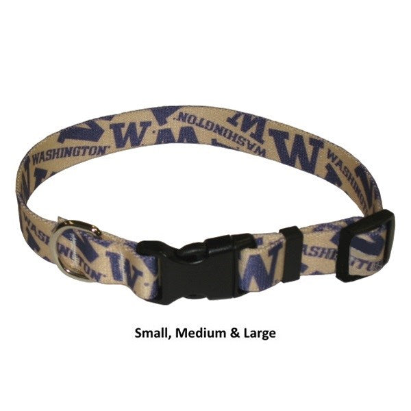 Washington Huskies Nylon Pet Dog Collar by Little Earth