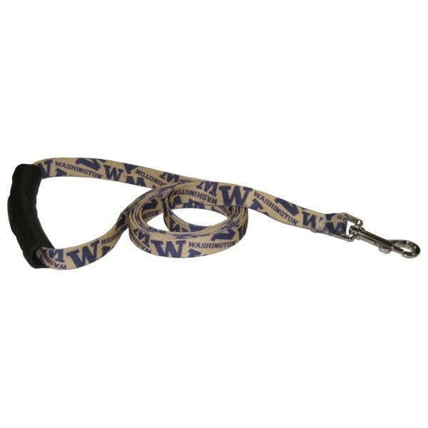 Washington Huskies EZ Grip Nylon Pet Dog Leash by Little Earth