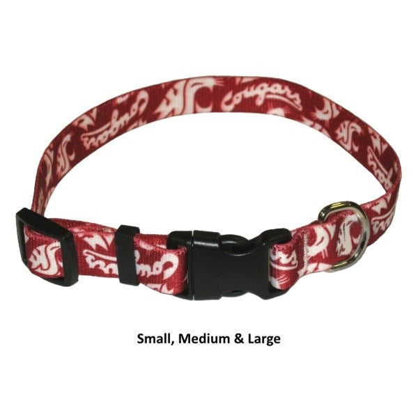 Washington State Cougars Cougars Nylon Pet Dog Collar by Little Earth