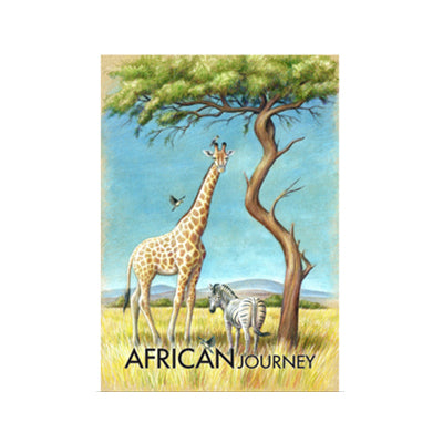 African Journey - Wooden Postcard