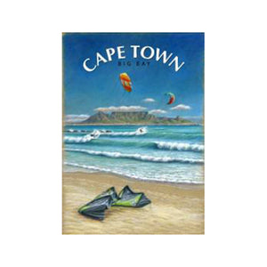 .Cape Town Big Bay - Wooden Postcard