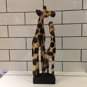 Giraffee and baby Woodart