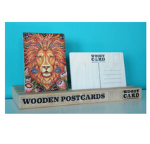 Load image into Gallery viewer, .Lion - Wooden Postcard