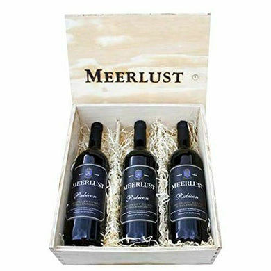 Meerlust Rubicon Trilogy Wooden Gift Pack (2014, 2015, 2016) 3 by 750ml