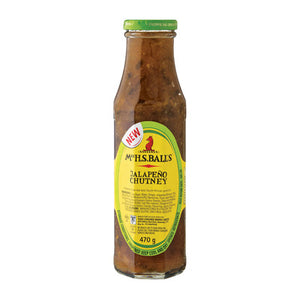 Mrs Balls Chutney Jalapeno 470g (bb feb 2021)
