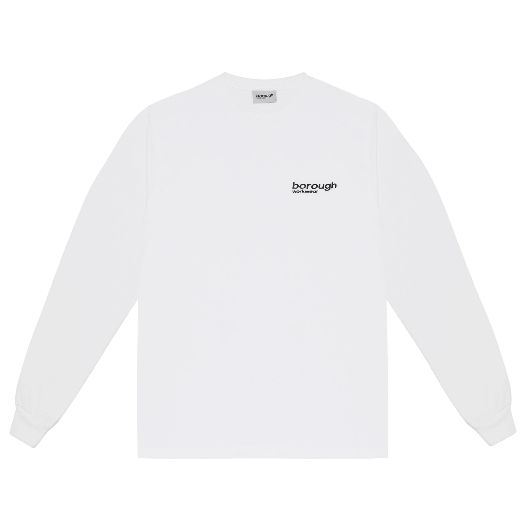 BW-CORE-04 EMBROIDERED LONG SLEEVE PURE WHITE