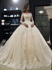 onlybridals Gorgeous Ball Gown Wedding Dresses Ball Gown Vintage Lace Wedding Gown - onlybridals