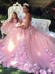 onlybridals Delicate Tulle Strapless A-line Wedding Dress With Beaded Lace  Pink Briudal Gowns for Adult - The Only Love Wedding Dress