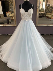onlybridals Unique sweetheart tulle lace long prom dress, lace evening dress - onlybridals