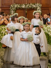 onlybridals Ball Gown Lace Flower Girl Dresses Cheap Cute Flower Girl Dresses - onlybridals