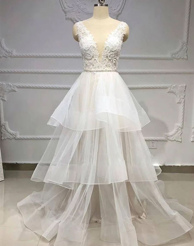 Only bridals White Wedding Party Dresses Bateau Appliques Online For Women - onlybridals