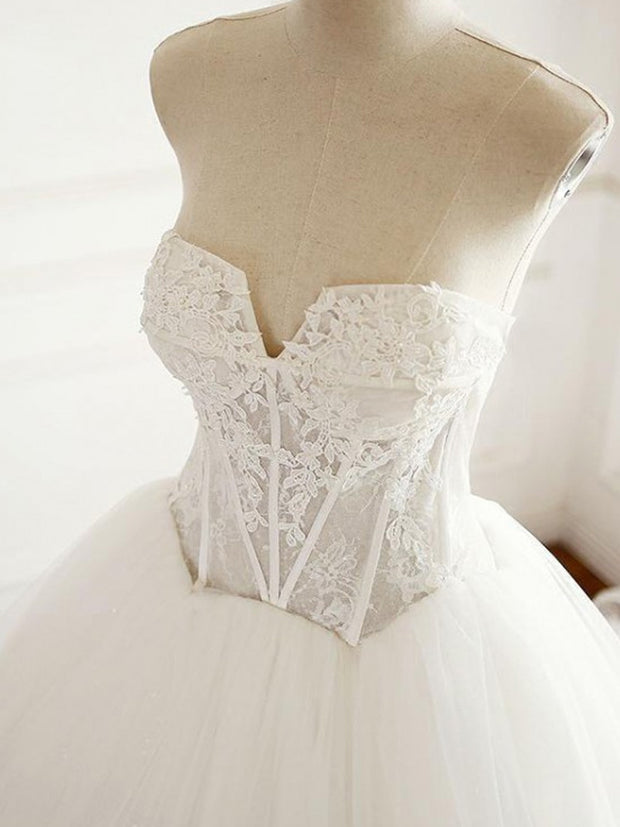 onlybridals V Neck Wedding Dresses, Wedding Dresses Cheap, Custom Made Wedding Dresses, A-Line Wedding Dresses - onlybridals