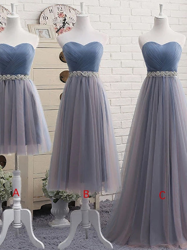 onlybridals Cute sweetheart neck tulle prom dress, tulle bridesmaid dress