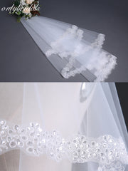 onlybridals Wedding Veil 1.5 meter Short Ivory White Bridal Veils Cheap