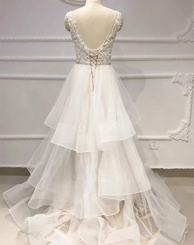Only bridals White Wedding Party Dresses Bateau Appliques Online For Women