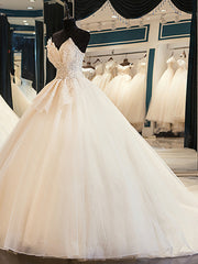 Onlybridals  Long Wedding Dresses  A-Line Sweetheart Appliques Lace Satin Bride Dress Wedding Gown Bridal Gown Robe De Mariee - onlybridals