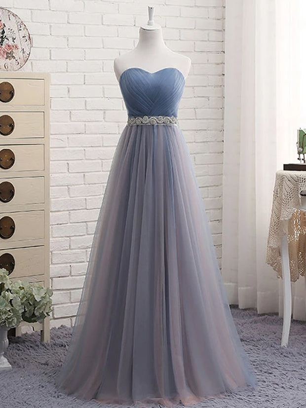 onlybridals Cute sweetheart neck tulle prom dress, tulle bridesmaid dress - onlybridals