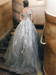 onlybridals 2019 Beautiful Princess Lace up Wedding Dress Long Appliques Ball Gown Bride dress Off the Shoulder Vestido De Noiva - onlybridals