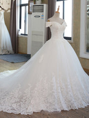 onlybridals Ball Gown Bridal Dress Vintage Muslim Plus Size Lace Wedding Dress Princess with Sleeve
