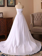 Strapless Lace Applique Wedding Dresses Sleeveless A Line Bridal Dresses