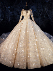 ball gown wedding dress 2019 sparkling shinny bridal dress