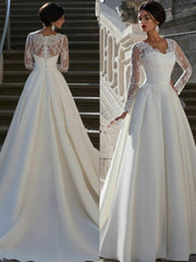 onlybridals Custom Long sleeve Lace Bridal Gown Wedding Dress Size 4-6-8-10-12-14-16++ - onlybridals