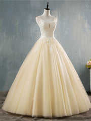 onlybridals  White Ivory Deep V Neck Elegant Ball Gown Champagne Wedding Dresses for brides Lace Plus Size
