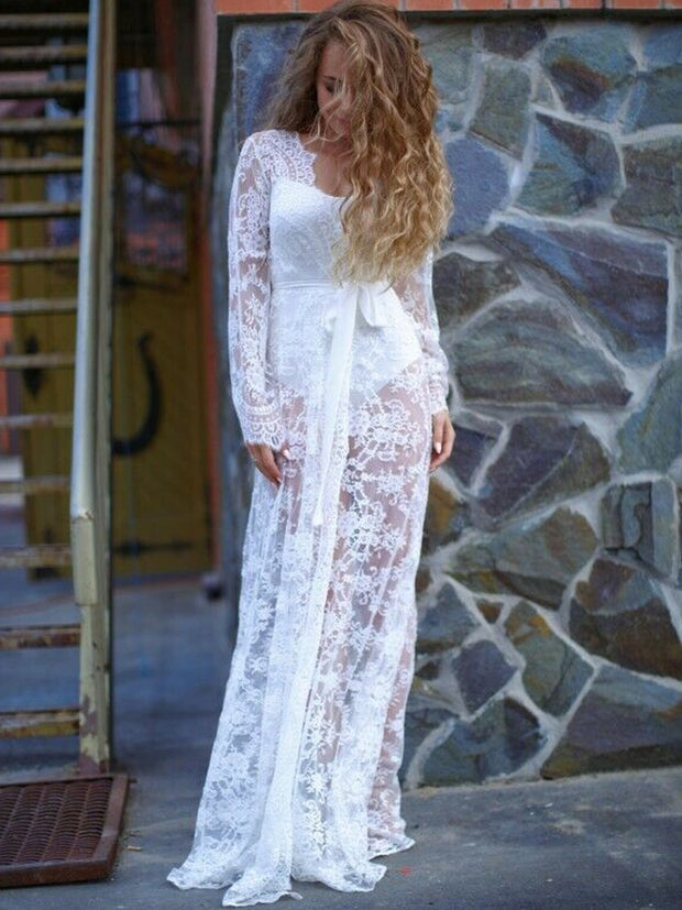 onlybridals Women's lace bathrobe pajamas pajamas women's Wedding Dress Pajamas Bridal Dress Plus - onlybridals