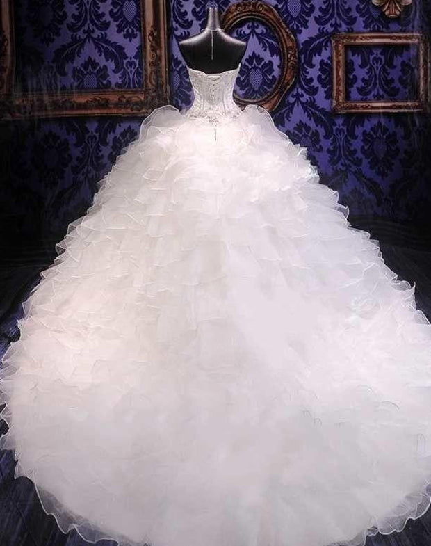 onlybridals 2020 Luxury Beaded Embroidery Ball Gown Wedding Dresses Princess Gown real wedding dress
