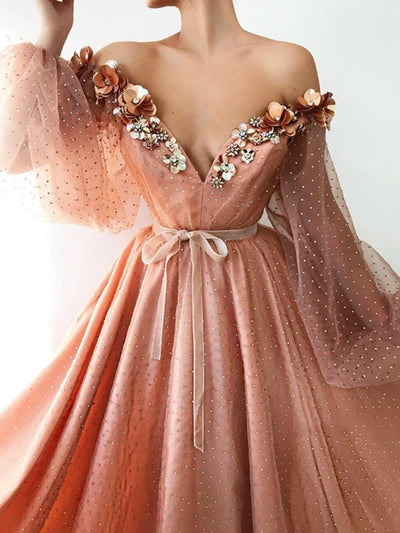 onlybridals Shiny details all over the dress with glittery shoulder dress with waist definition and long sleeves Forparties and special occasions