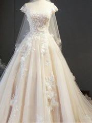 onlybridals Sleeveless Delicate A Line Wedding Dress With Chapel Train Bridal Dress Lace Up Ball gown off shoulder bridal gown - onlybridals