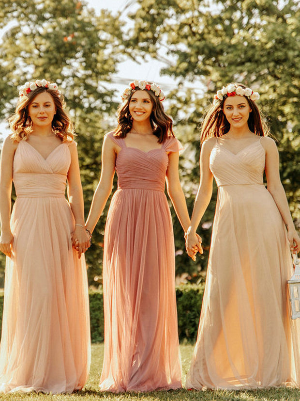 onlybridals Cute sweetheart neck tulle prom dress tulle bridesmaid dress - The Only Love Wedding Dress