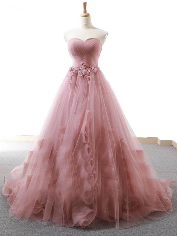 onlybridals Simple off shoulder tulle long red prom dress, tulle formal dress