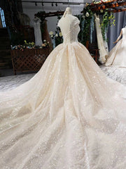 onlybridals shiny wedding dresses with glitter high neck cap sleeve crystal lace wedding gowns with train vestidos de novia vintage