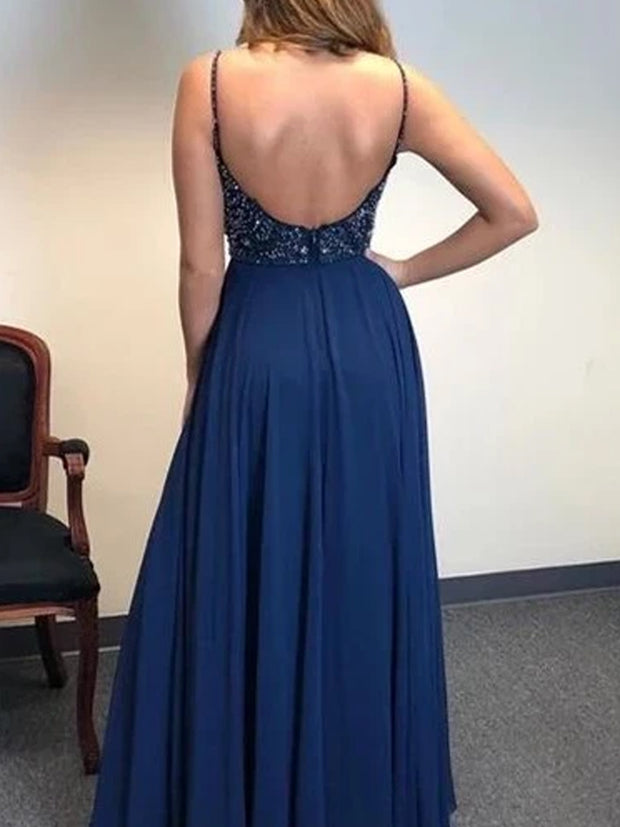 Chiffon Beading Cheap Prom Dress Simple Custom Evening Dress