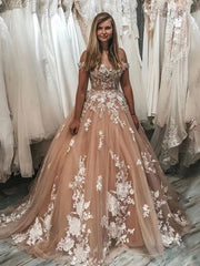 onlybridals Lace Quinceanera Dresses 2020 Ball Gown Appliques Tull Beaded Party Sweet wedding dress - onlybridals