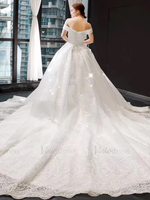 onlybridalsVintage beaded sparkling lace wedding dress with bling
