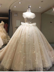 Luxury beading wedding dress Off Shoulder Long Train 2019 New bridal dress - onlybridals