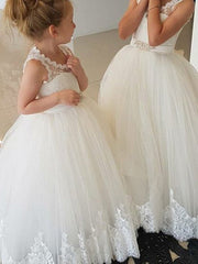 Lace Wedding Flower Girl Bridesmaid Party Dress Long - onlybridals