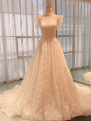onlybridals 2020 New Court Train summer Bride Dress Lace Beard Crystal Boho Wedding dress