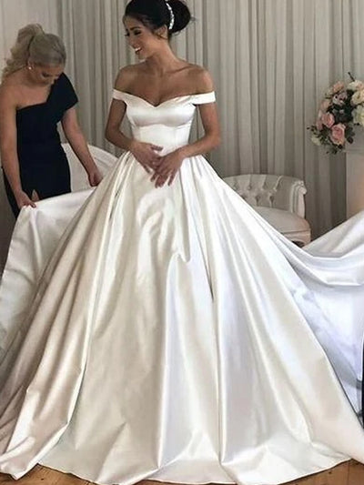 onlybridals Oversized lace satin a-line strapless wedding dress - onlybridals