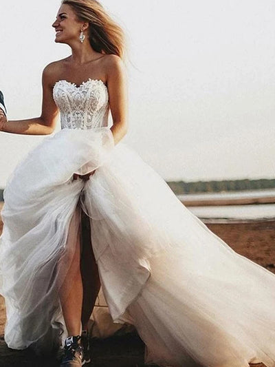onlybridals Simple Sweetheart A-line Cheap Wedding Dresses Wedding Gown