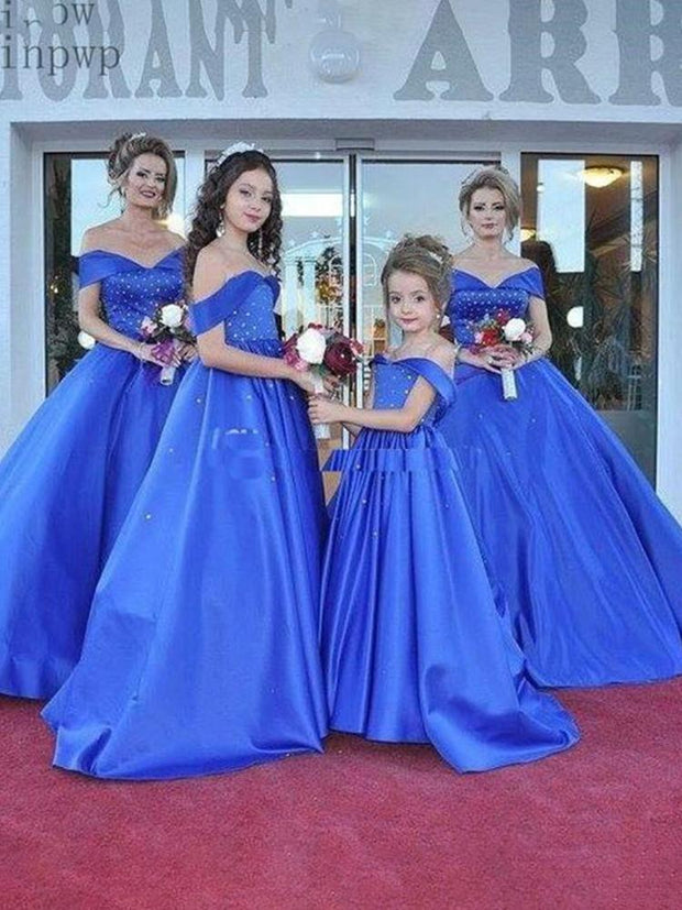 Blue Evening Dresses Off Shoulder Sweep Train Pearl Beads Women Prom Gown Celebrity Dress Plus Size