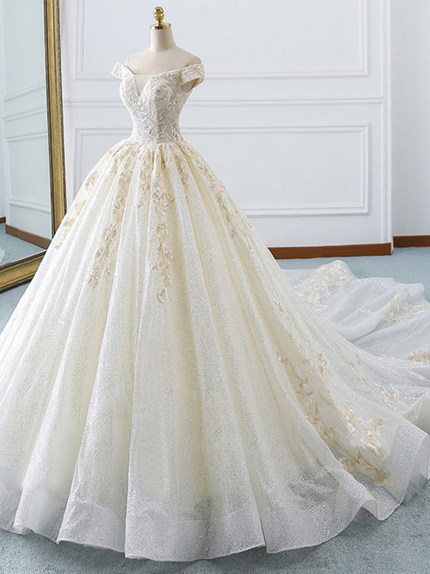 Stunning real work wedding dress 2019 robe de soiree