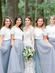 onlybridals Colored Long Tulle Bridesmaid Dresses - onlybridals