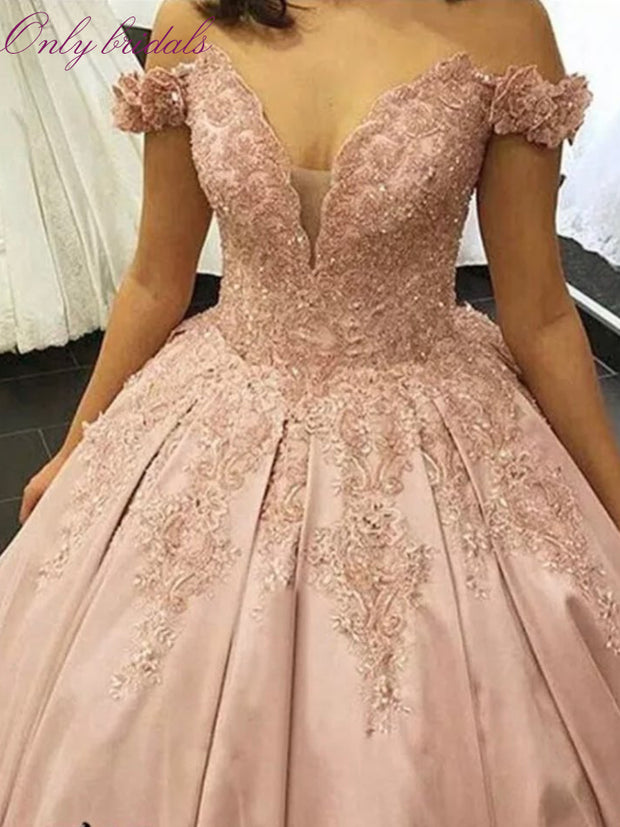 onlybridals Wedding Dresses 2020 A-line Sweetheart Bridal Gown Lace Appliques Ball Gown Sleeveless Vestidos de Noivas Floor Length