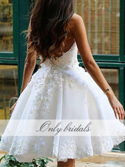 onlybridals Short Graduation Dresses Length Handmade Flowers Beaded Sweetheart Zipper Back Homecoming Dresses - onlybridals