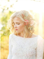 onlybridals  Country Boho Wedding Dresses Backless Scoop Neck