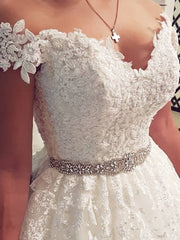 onlybridals boho wedding dress Cap sleeve Cheap wedding gowns 2020 A-Line Lace Appliques Wedding dresses - onlybridals