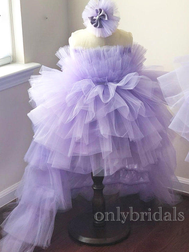 onlybridals Laverden High Low Style Flower Girl Dress 2021 Wedding Party Birthday Children Kid Princess Gown First Communion Dresses - onlybridals